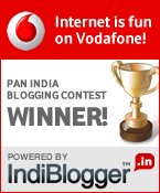 Vodafone IndiBlogger Contest Winner!