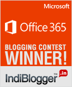 Microsoft Office 365 - IndiBlogger Runner up