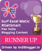 Surf Excel Matic #GetSmart Surf Excelmatic IndiBlogger Contest Runner Up