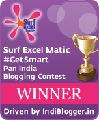 Surf Excel Matic #GetSmart Surf Excelmatic IndiBlogger Contest Winner
