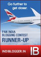 British Airways IndiBlogger Contest Runner-up
