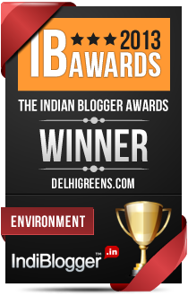 This blog won the 2013 Indian Blogger Awards - Environment