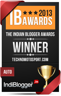 This blog won the 2013 Indian Blogger Awards - Auto
