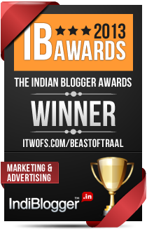 This blog won the 2013 Indian Blogger Awards - Marketing & Advertising