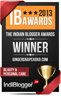 This blog won the 2013 Indian Blogger Awards - Beauty & Personal Care