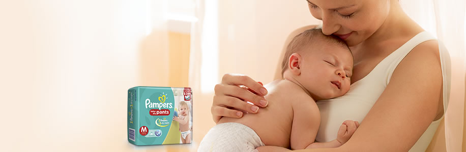 PAMPERS - DRY BABY HAPPY BABY