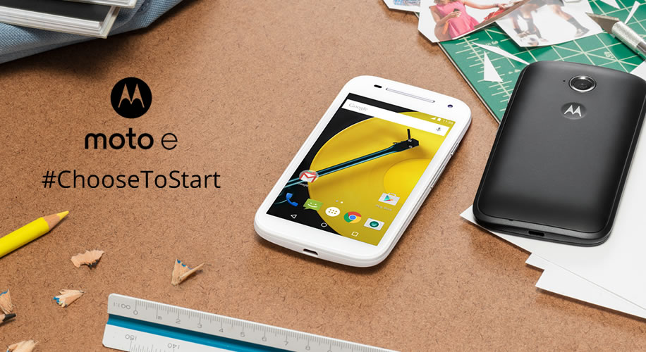 #ChooseToStart your smartphone journey with the all new Moto E