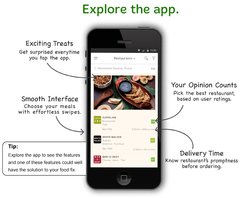Mobile App Review: @TinyOwl_App Order Food Online - Quality